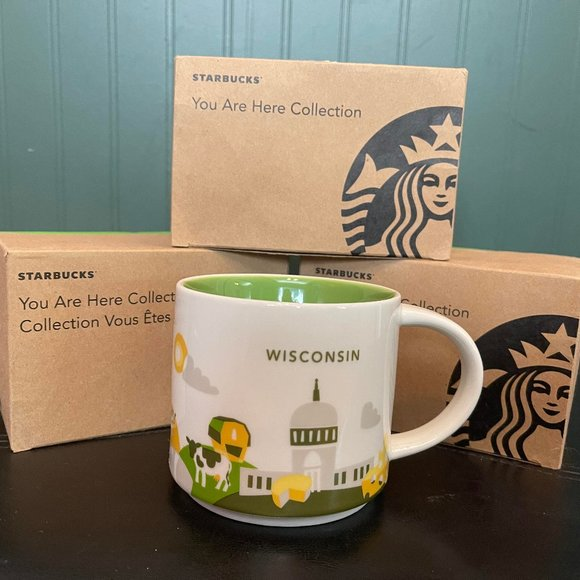 """STARBUCKS """"You are here collection"""" WISCONIN"""